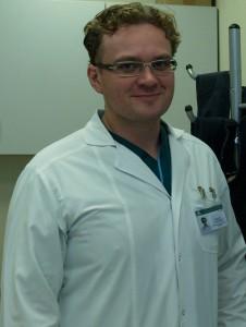 Gydytojas Donatas Vajauskas.