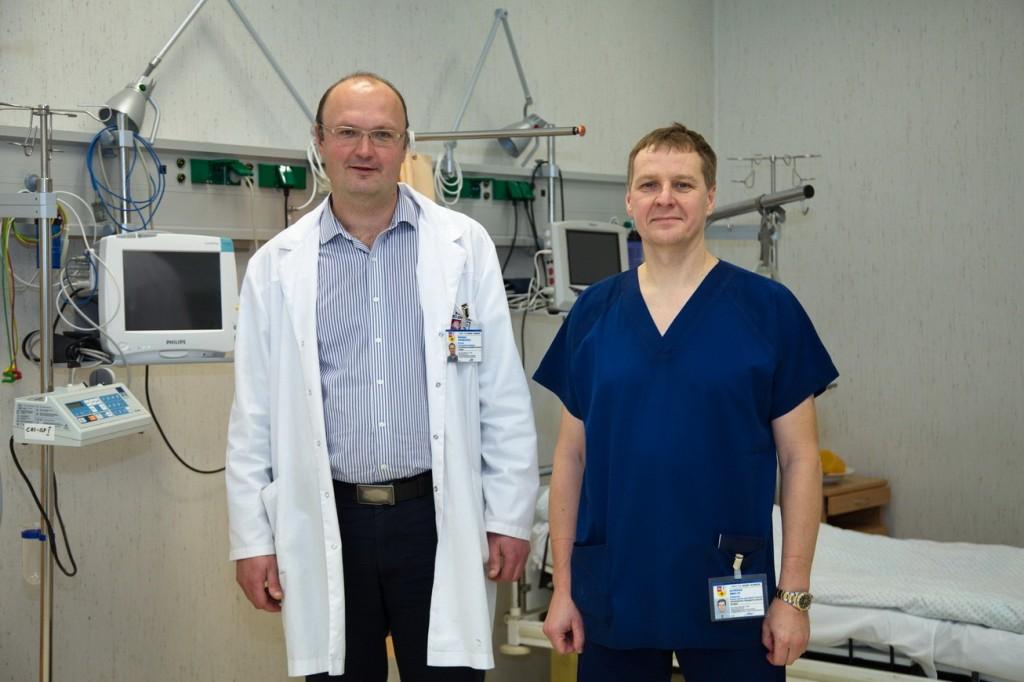 Prof. Šarūnas Tarasevičius ir prof. Alfredas Smailys.