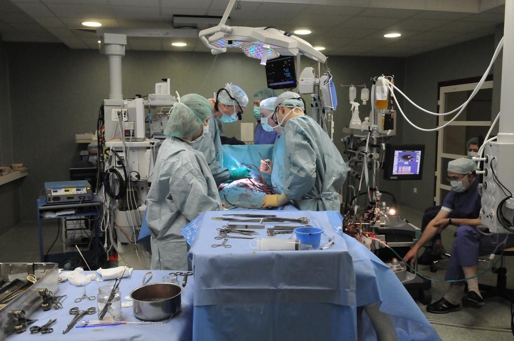 Operacijos metu. (P. Katausko nuotr.)
