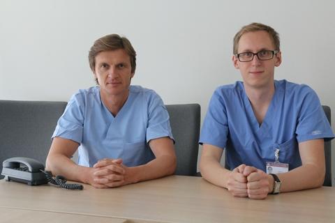 Mindaugas Šerpytis (kairėje) ir Šarūnas Judickas (Nacionalinio transplantacijos biuro archyvo nuotr.)