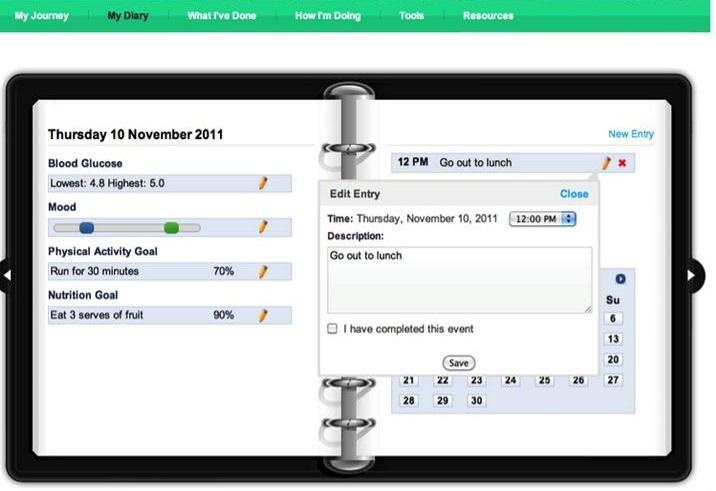 Virtualios pacientų programos pavyzdys.
