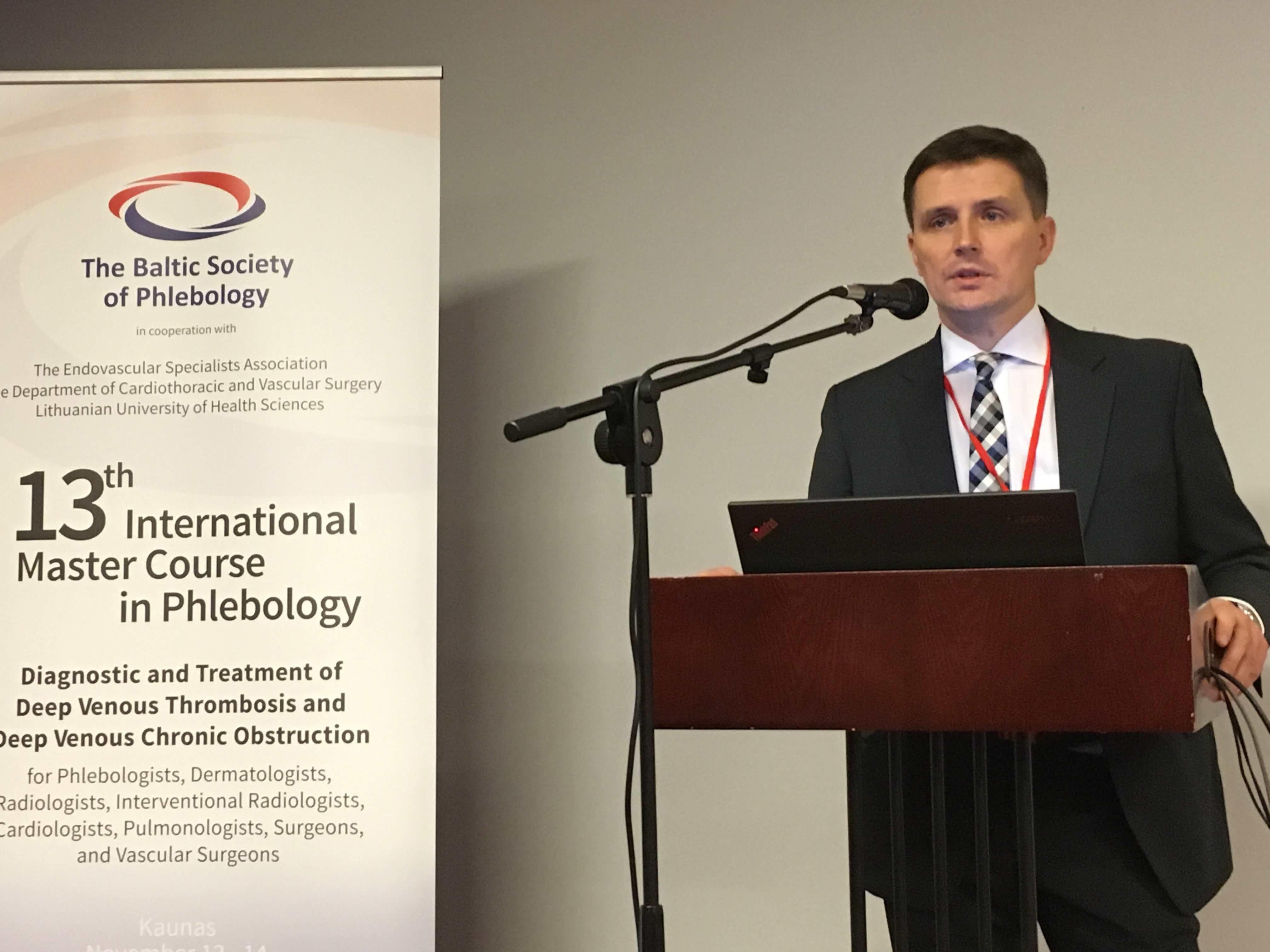 Kraujagyslių chirurgijos skyriaus vadovas dr. Linas Velička. (LSMUNI nuotr.)