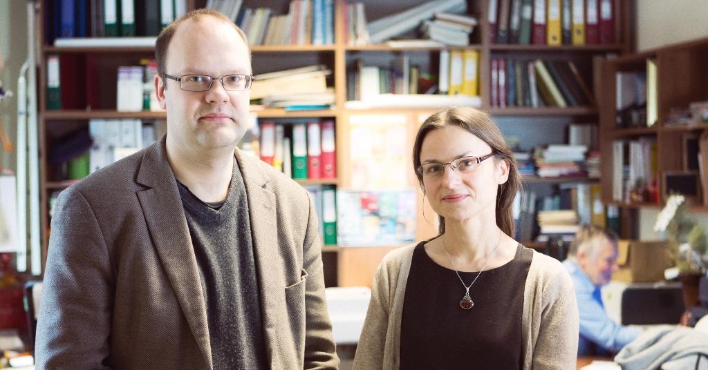 SHARE tyrimo Lietuvoje koordinatoriai, Filosofijos fakulteto mokslininkai doc. Antanas Kairys ir Vida Jakutienė. E. Kurausko nuotrauka