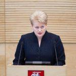 Prezidentė apgynė konstitucines pacientų teises ir grąžino Lietuvai teisę į pažangą